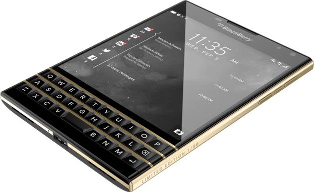 BlackBerry Passport in gold