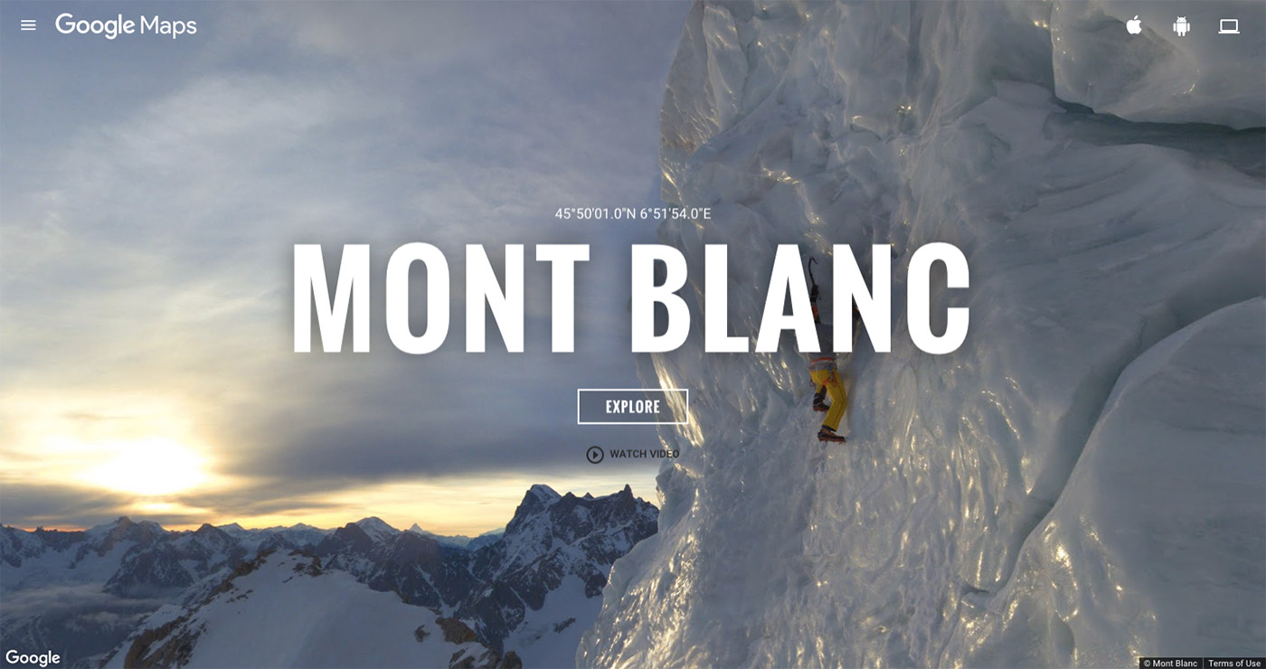 Climb Europe's highest peak on Google Street View