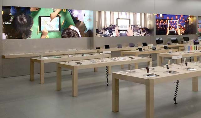 new Apple Store wall graphics