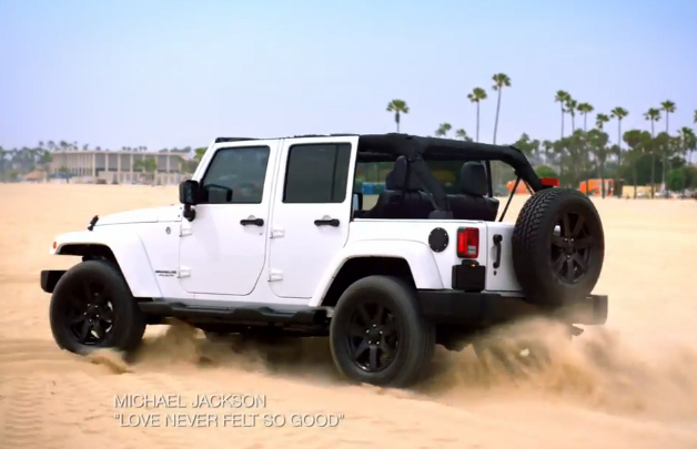 Screencap from the Jeep commercial 'Call of Summer' featuring an unreleased track by late singer Michael Jackson.
