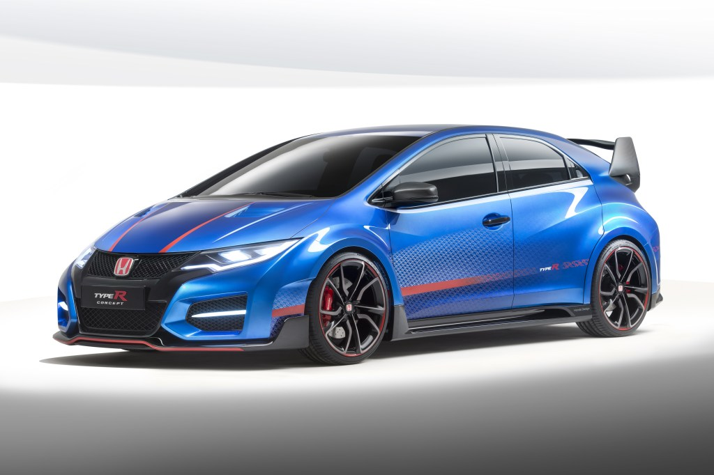 2014, 2015, featured, debüt, Auto salon Paris, Honda Civic Type R Concept II,  fotos, Honda Civic, Honda Civic Type R, Honda Civic Type R 2015, premiere, reveiled,  VTEC, VTEV Turbo, Pariser Auto salon