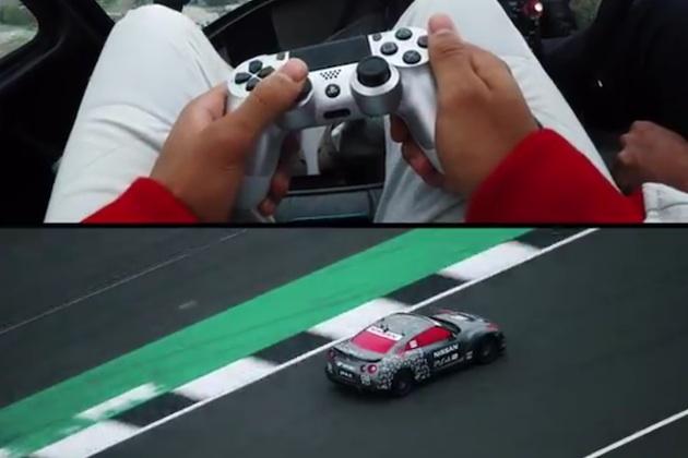 【ビデオ】プレイステーション用コントローラーで遠隔操縦された日産「GT-R」がサーキットを駆け抜ける!