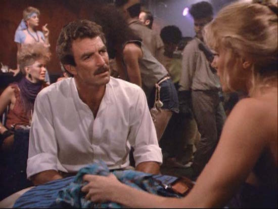 Was Tom Selleck Constantly Hiding An Erection On Magnum, P.I.?, tom selleck sitting down