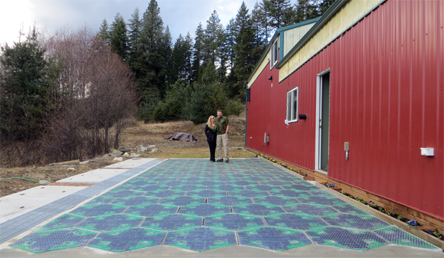 Solar Roadways demonstration parking lot