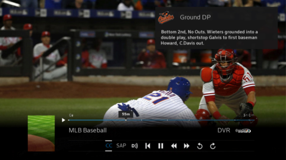 Comcast X1's sports highlights feature