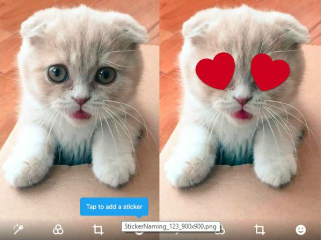 Twitter is testing stickers you can add to photos