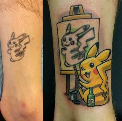ダサすぎるポケモン・ピカチューのタトゥーに悩む男がネット上で話題に