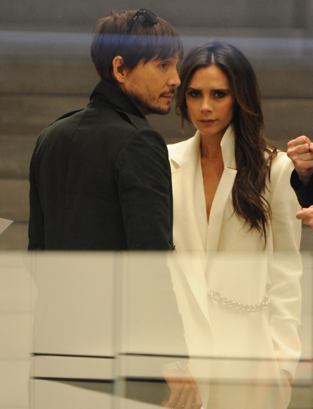 Victoria Beckham is all-white at her new shop in Mayfair