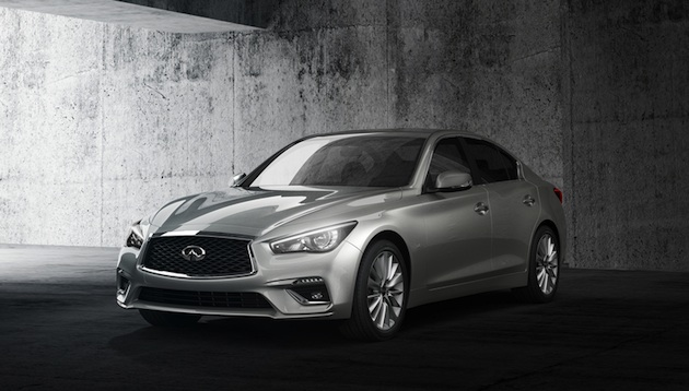 "The 2018 INFINITI Q50 sports sedan features a refreshed exterior and interior design, as well as innovative technologies designed to empower and support the driver. While it retains its sleek proportions and athletic stance, the new Q50 establishes greater visual differentiation between model versions, including the performance-inspired Red Sport 400, which is designed in line with its ""designed to perform"" ethos."
