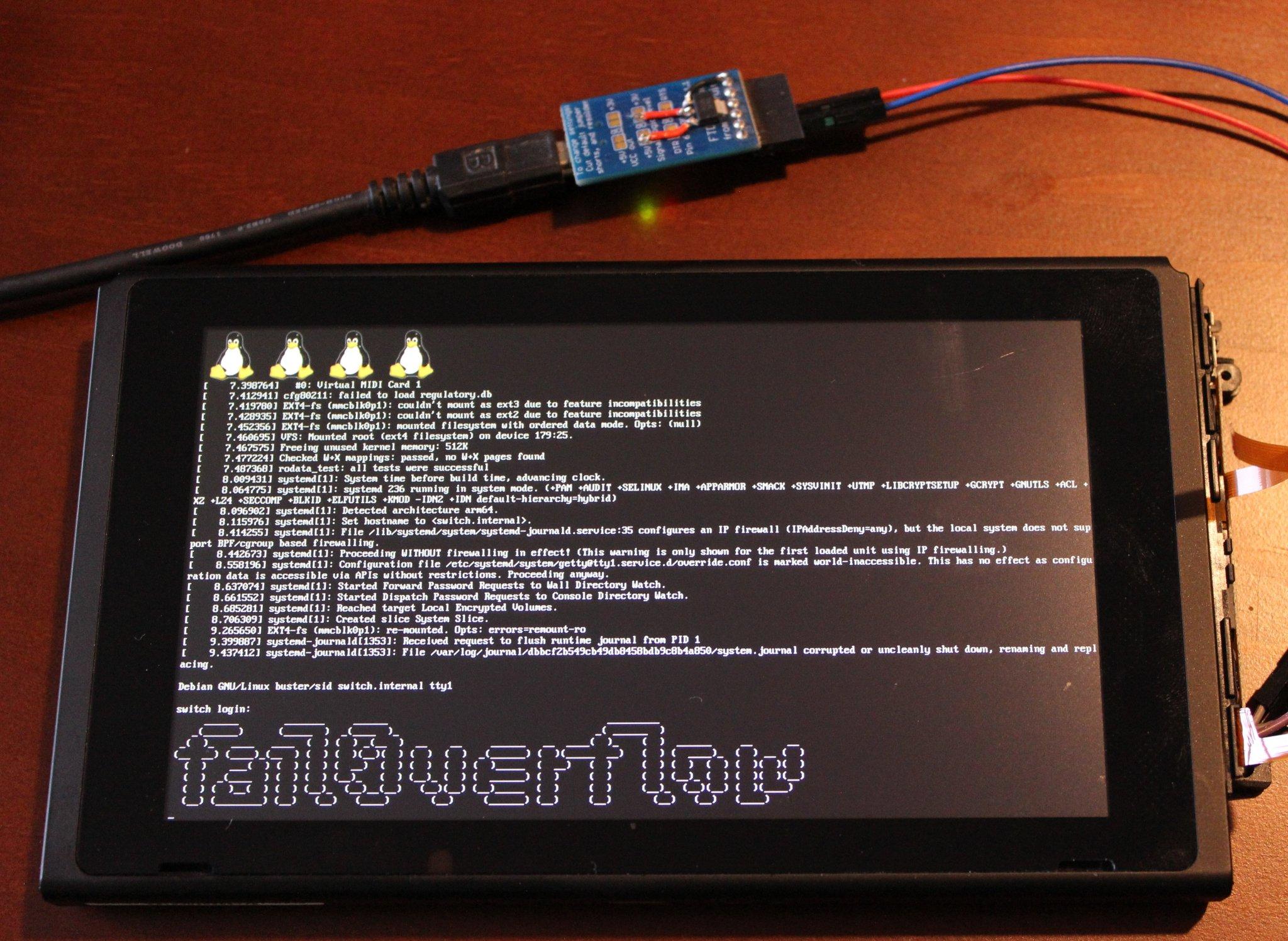 Logran ejecutar Linux en una Nintendo Switch aprovechando un bug irreparable