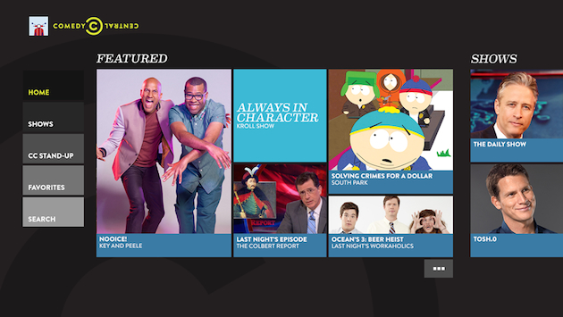 Comedy Central for Xbox One serves 'South Park' and 'The Daily Show'