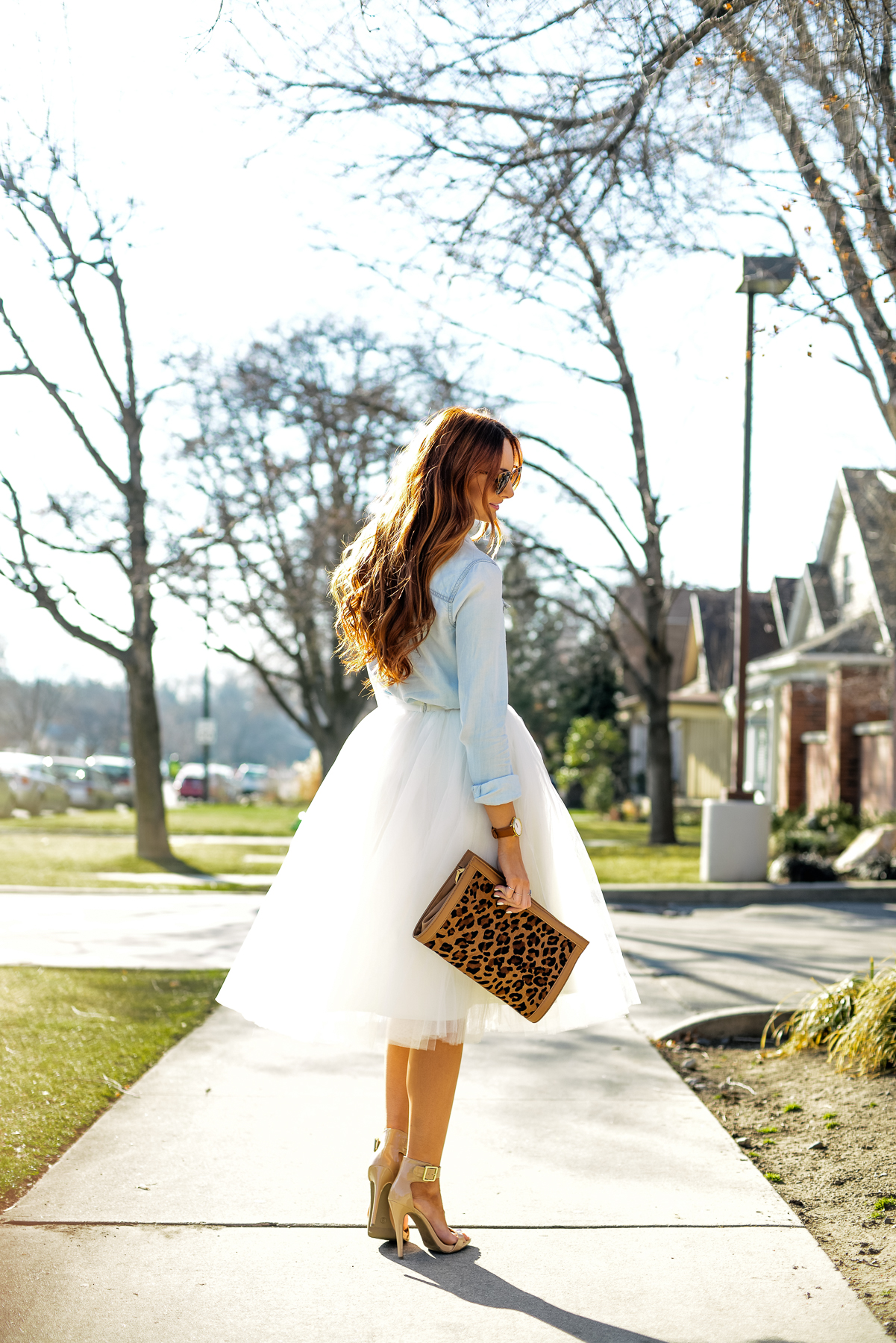 Latest obsession: Chambray and tulle