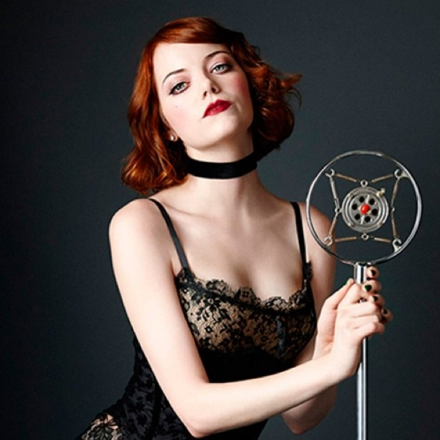 Emma Stone in first picture as Sally Bowles in Cabaret
