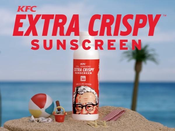 【衝撃】KFCが「フライドチキンフレーバー」の日焼け止めを開発