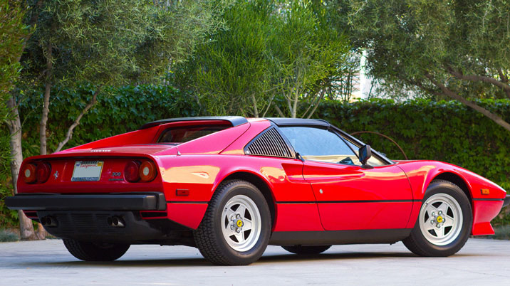 Ferrari 308 rear red