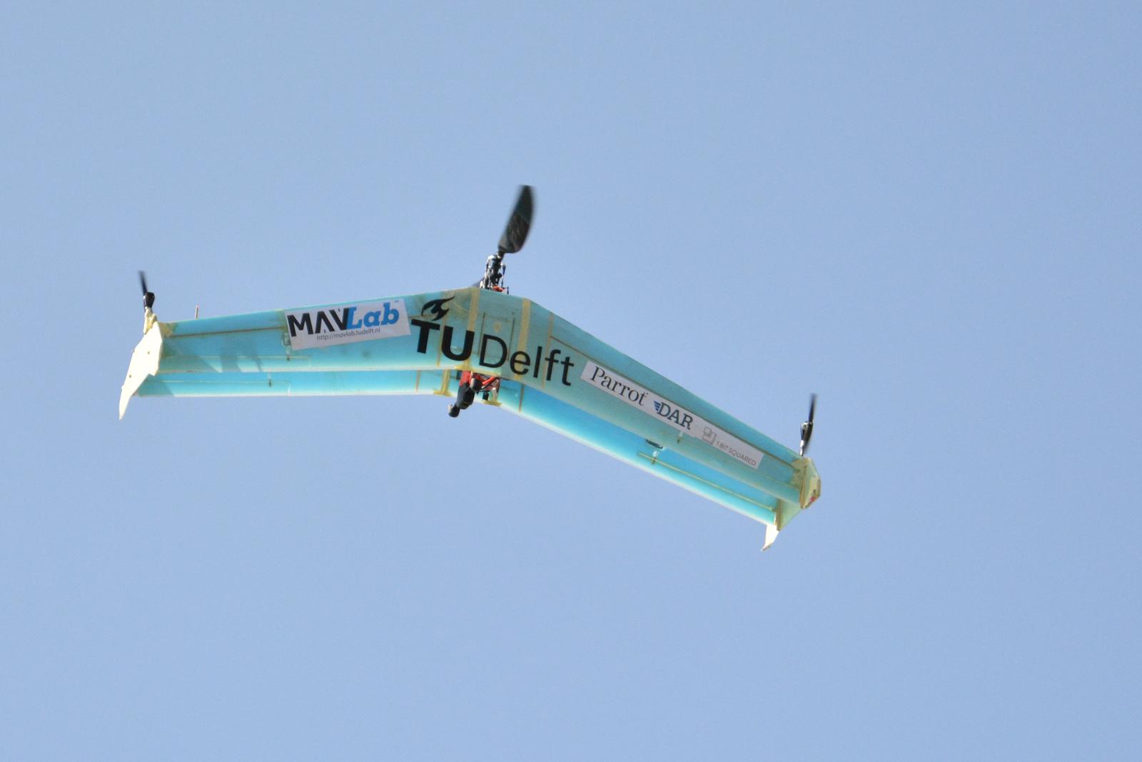 这台无人机集合了直升机和飞翼的设计 第2张