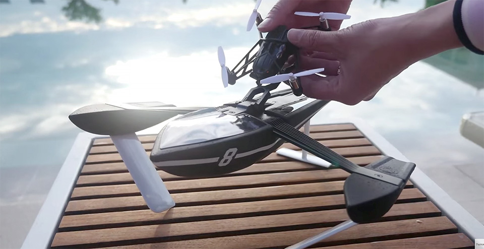 parrot unveils 13 new minidrones to tackle air sea and land. Black Bedroom Furniture Sets. Home Design Ideas
