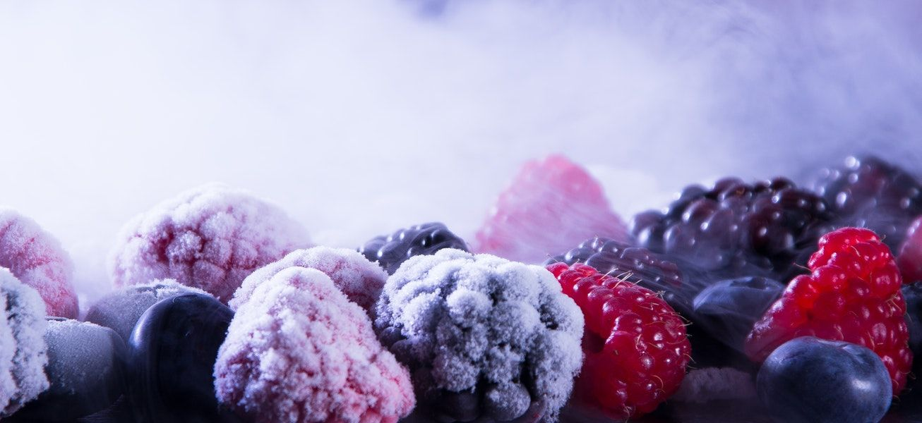 frozen, food, berries