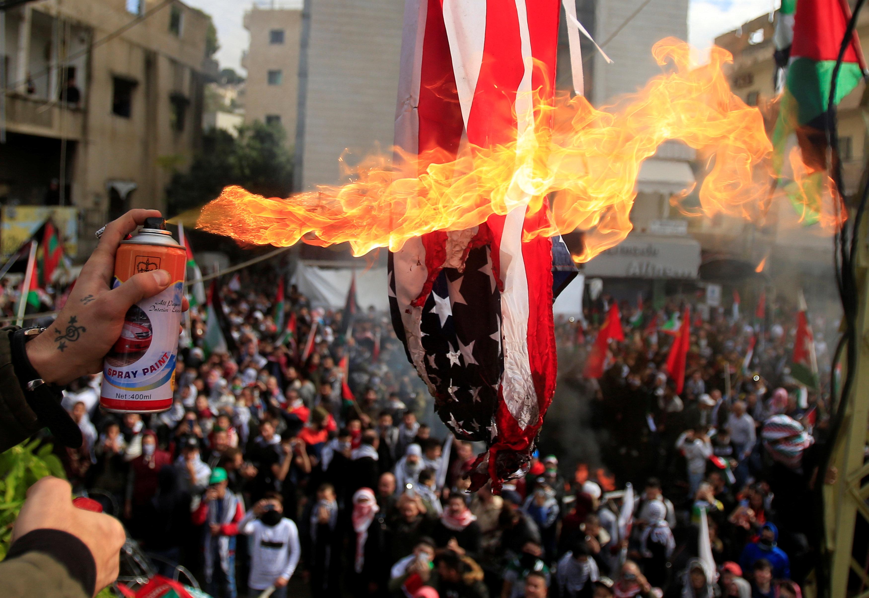 2.000 personas protestaron por decisión de EE.UU. sobre Jerusalén