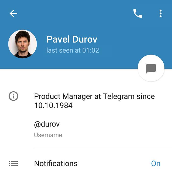 telegram perfiles