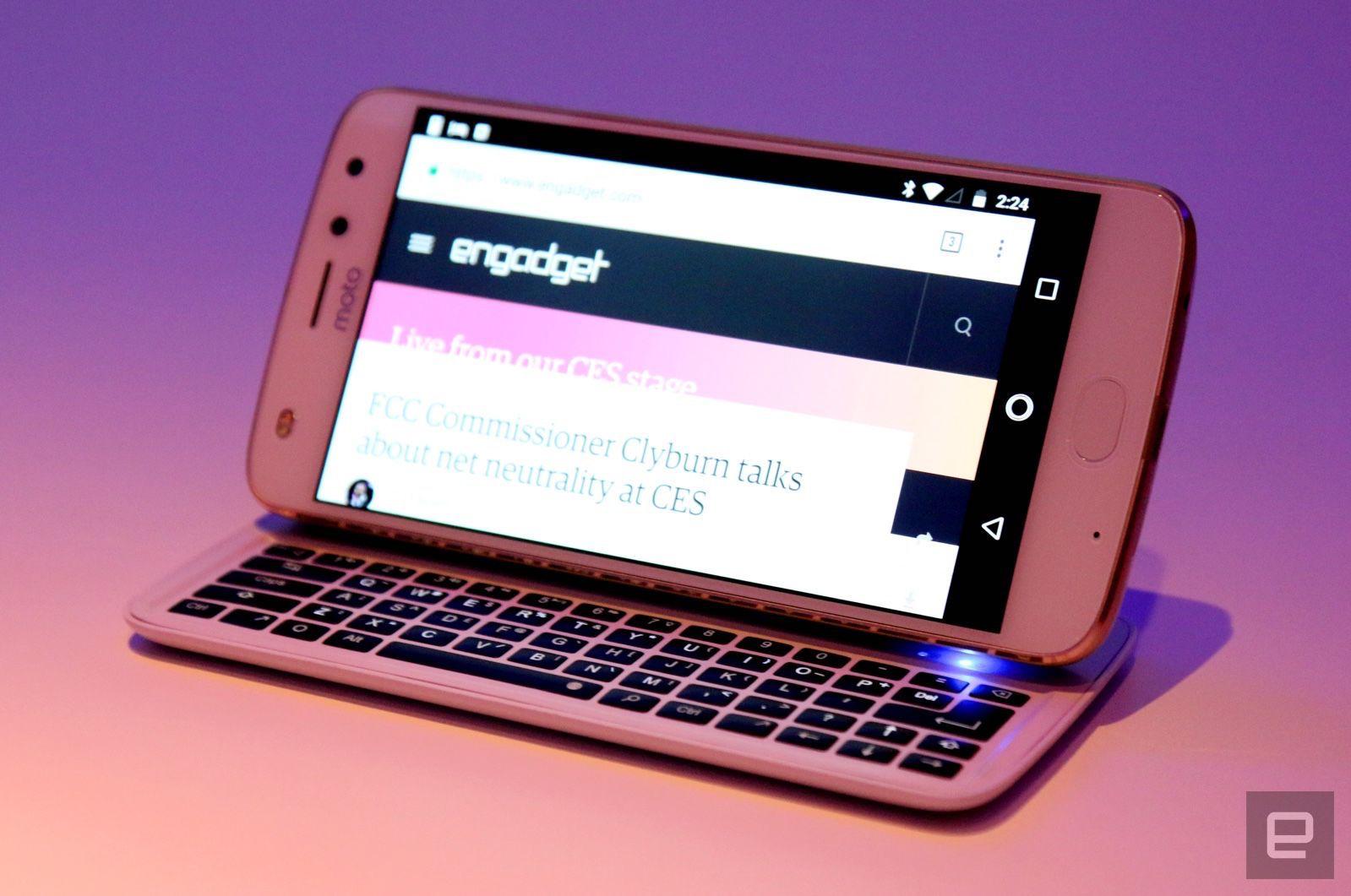 El teclado-Mod del Moto Z es una (innecesaria) vuelta al pasado