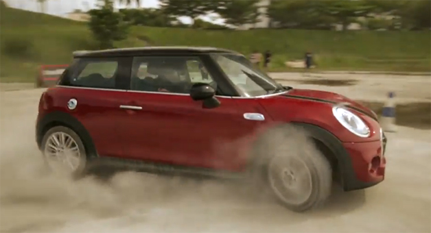 Screencap of a Malaysian video promo for the new Mini.