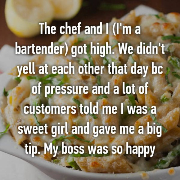 high at work confessions