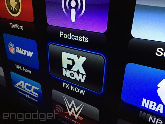 FXNow delivers its on-demand streaming to Apple TV