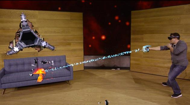 微软HoloLens 明年上市 售价3000美元 (有视频,多图)