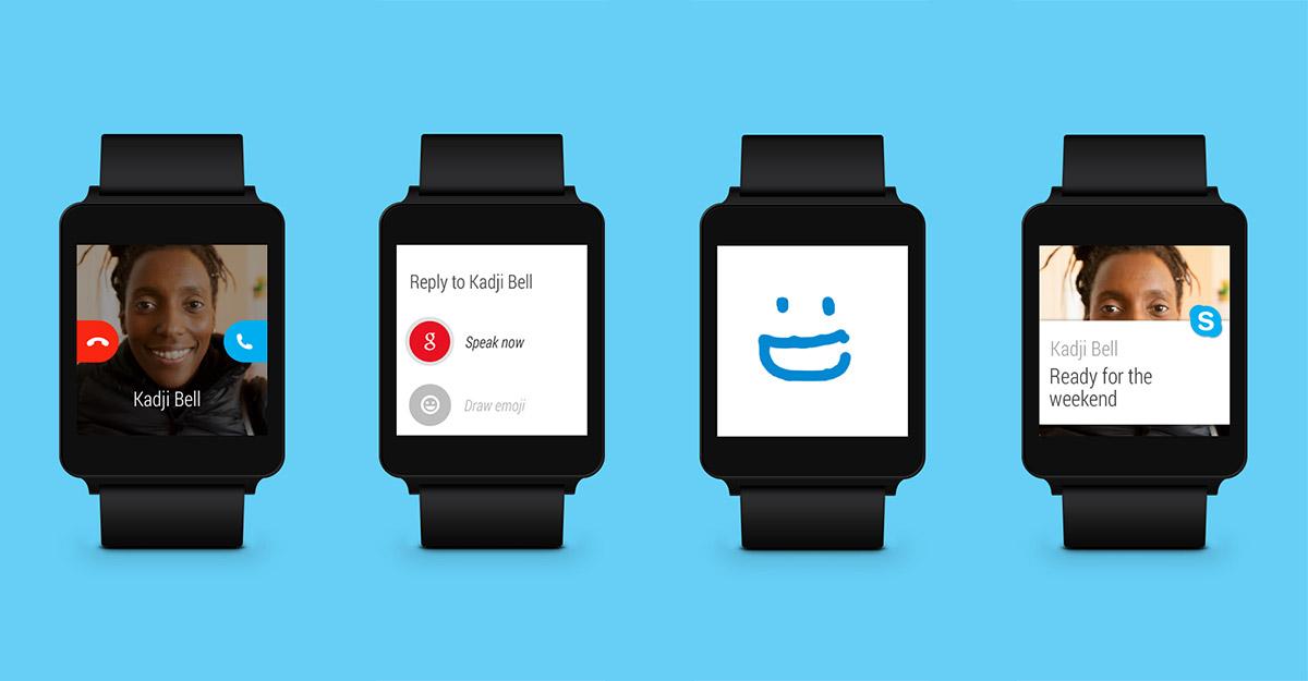 La nueva versión de Skype es compatible con Android Wear