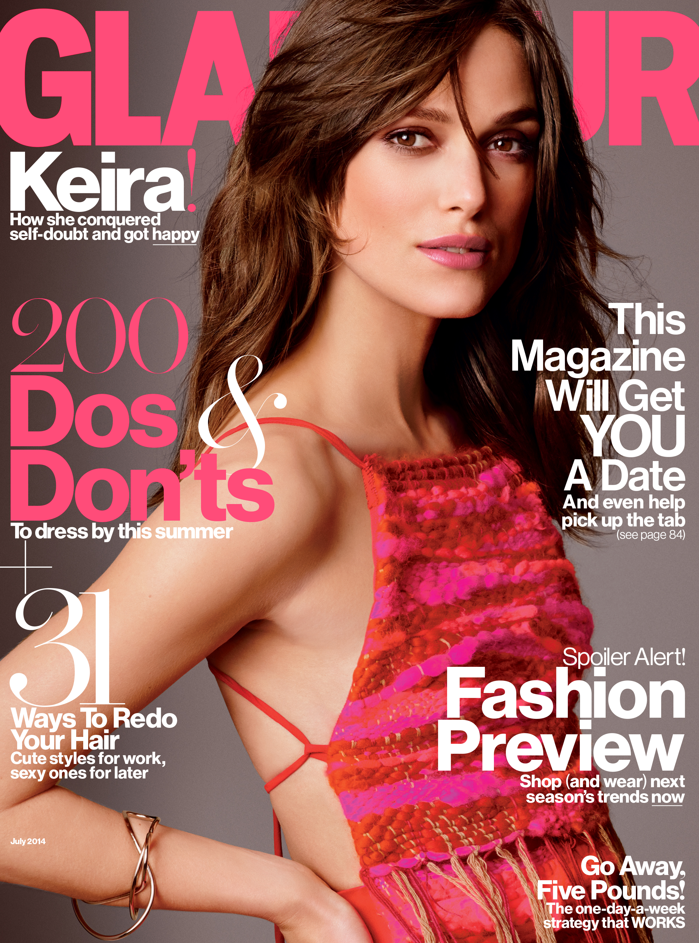 Keira Knightley's sultry Glamour cover
