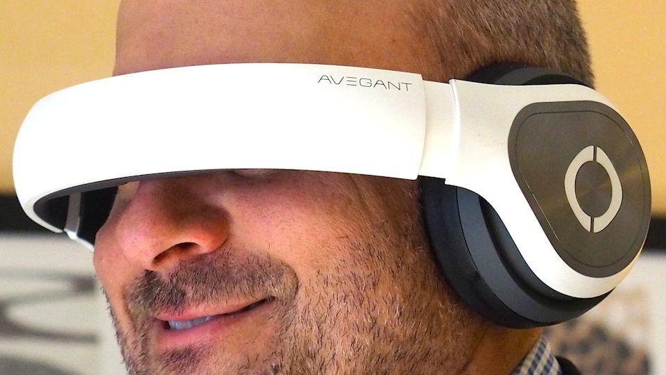 Avegant's personal theater headset looks like a pair of premium headphones