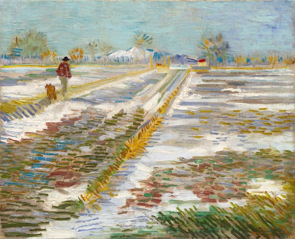 ゴッホ「雪のある風景」