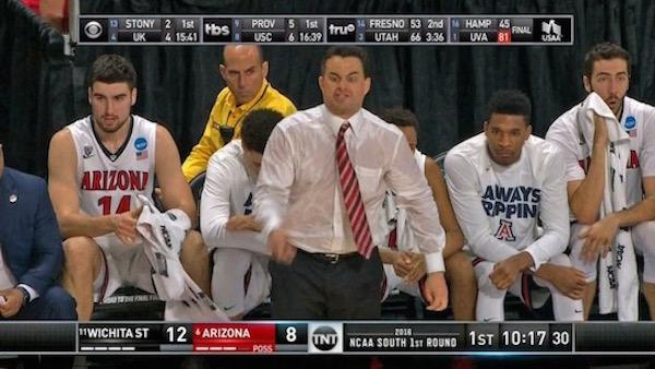Sean Miller super sweaty and gross