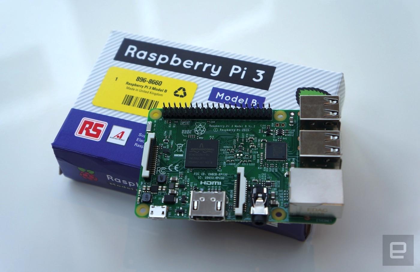 Raspberry Pi 3 tiene un procesador de 64-bit y WiFi integrado