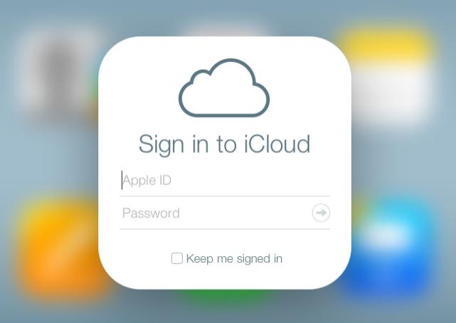 Apple iCloud sign in