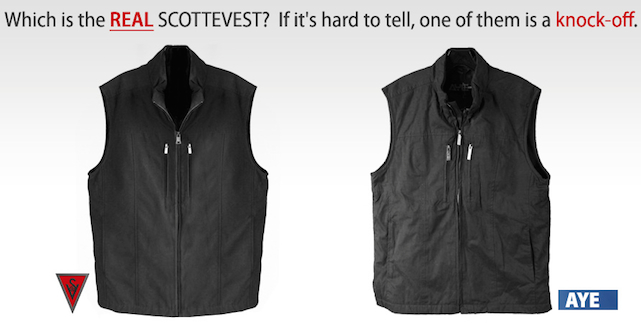 Image from SCOTTeVEST website showing Scottish knockoff gear