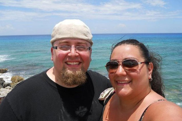 Obese mum and dad lose 20 stone between them
