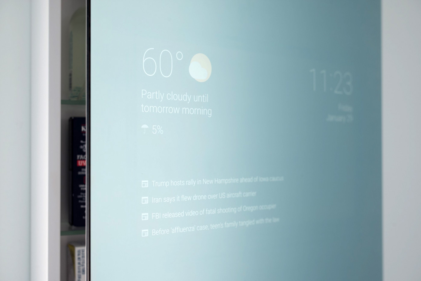 staffer makes his own smart bathroom mirror