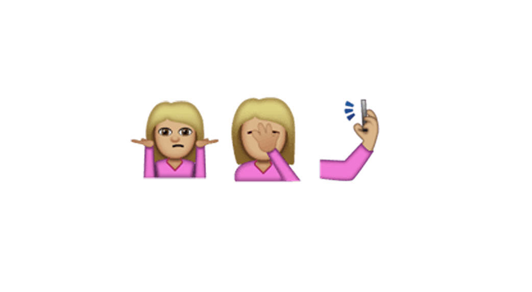Facepalm, selfie and shrug emoji are on the way