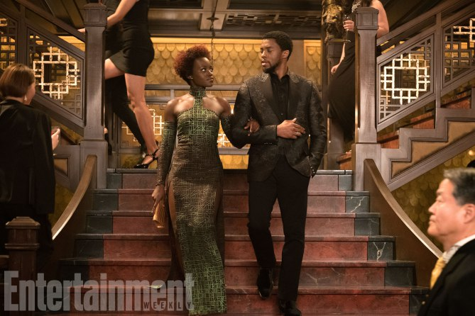 Marvel Studios' BLACK PANTHER<br /> L to R: Nakia (Lupita Nyong'o) and T'Challa/Black Panther (Chadwick Boseman)<br /><br /> Credit: Matt Kennedy/©Marvel Studios 2018