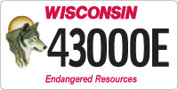 State of wisconsin environmental license plate