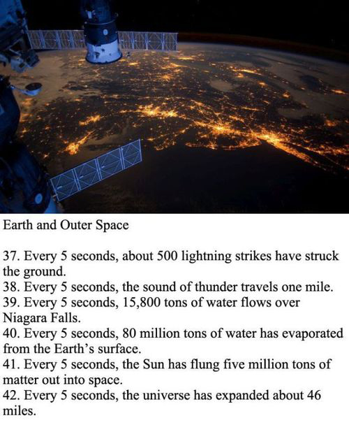 every five second facts