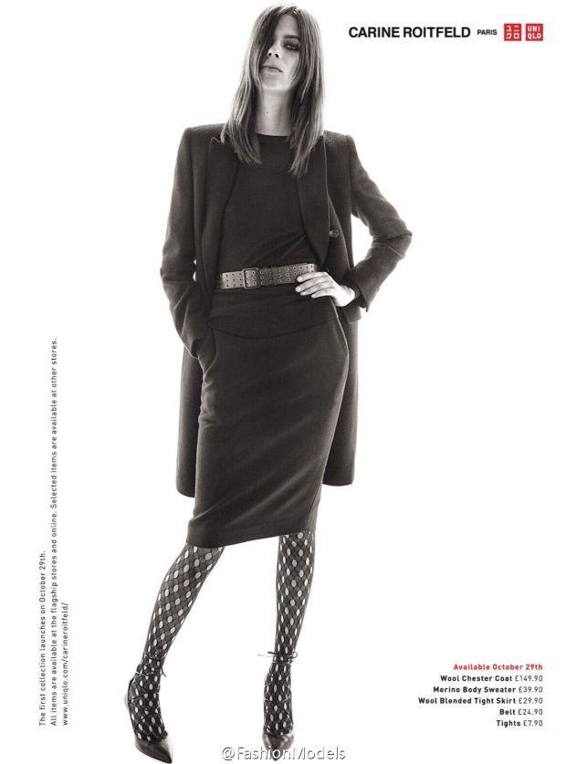 Uniqlo x Carine Roitfeld Ad Campaign