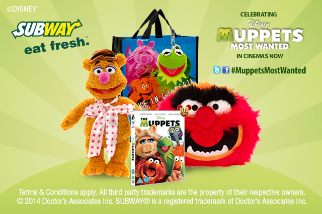 Competition win a Muppets Most Wanted goody bag and £100 Disney store vouchers