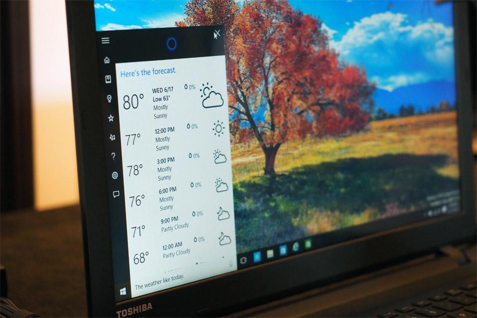 Windows 10 on a Toshiba laptop