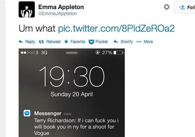 Emma Appleton Terry Richardson