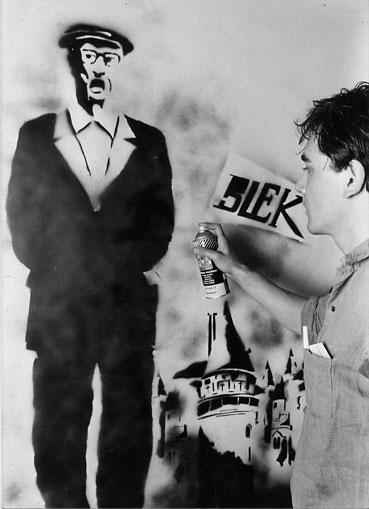 El artista Blek le Rat.