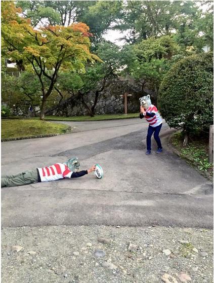 MAN WITH A MISSIONがラグビー日本代表・五郎丸選手のサムライおがみポーズ炸裂!