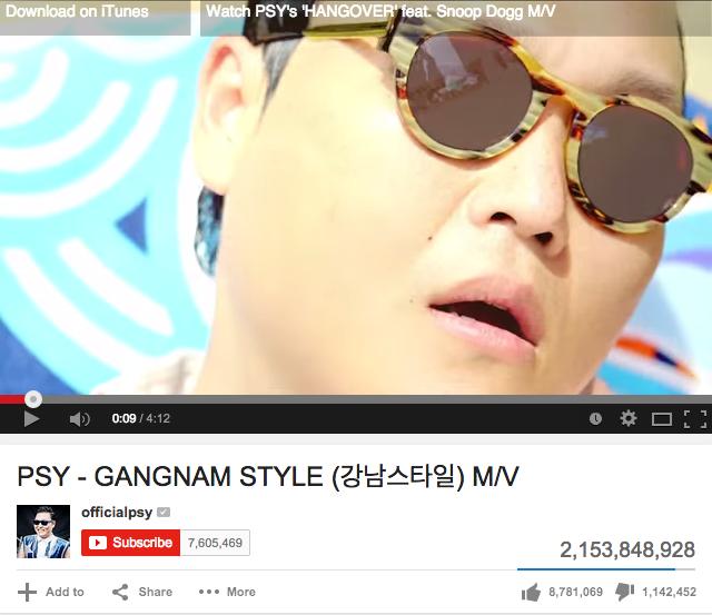 Gangnam Style 的 YouTube 點擊數突破天際了,Oppa~ - 325.7KB